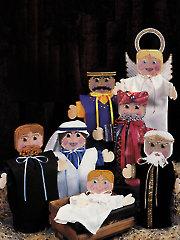 Nativity Hand Puppets Plastic Canvas Pattern