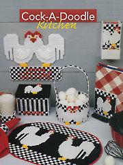 Cock-A-Doodle Kitchen Plastic Canvas Pattern