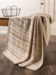 ANNIE'S SIGNATURE DESIGNS: Gansey Style Crochet Afghan Pattern