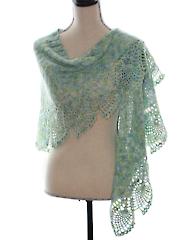 Sea Glass Shawl Crochet Pattern