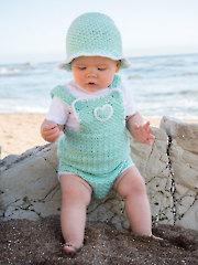 ANNIE'S SIGNATURE DESIGNS: Baby Romper & Sun Hat Crochet Pattern