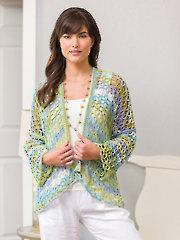 ANNIE'S SIGNATURE DESIGNS: Ocean Air Cardi Crochet Pattern