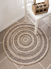 ANNIE'S SIGNATURE DESIGNS: Pebble Beach Mandala Rug Crochet Pattern