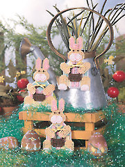 Bunny Egg Magnets Plastic Canvas Pattern