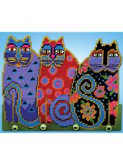 Cat Trio Plastic Canvas Kit