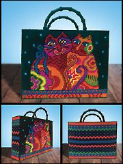 Cat Tote Bag Plastic Canvas Kit