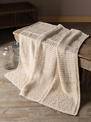 ANNIE'S SIGNATURE DESIGNS: Gansey Block Knit Afghan