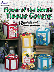 Flower Of the Month Tissue Covers Pattern