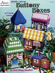 Buttony Boxes Plastic Canvas Pattern