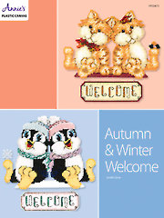 Autumn & Winter Welcome Plastic Canvas Pattern
