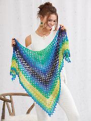 Tahitian Nights Shawl Crochet Pattern