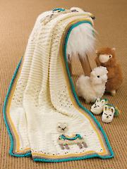 Llama Baby Blanket & Slippers Crochet Pattern