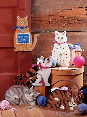 Feline Friends Plastic Canvas Pattern