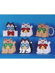 Kitty Coasters Plastic Canvas Kit