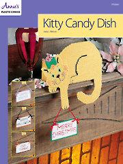 Kitty Candy Dish Plastic Canvas Pattern