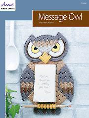Message Owl Plastic Canvas Pattern