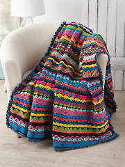 Fancy Stitches Afghan Crochet Pattern or Kit