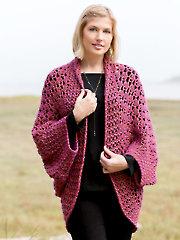 ANNIE'S SIGNATURE DESIGNS: Lotte Cocoon Shrug Crochet Pattern