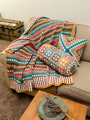 ANNIE'S SIGNATURE DESIGNS: Foxdale Granny Afghan & Pillows Crochet Pattern