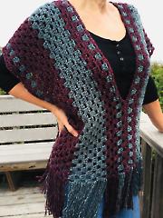 Misty Morning Poncho Top Crochet Pattern
