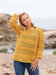 ANNIE'S SIGNATURE DESIGNS: Normandy Gansey Crochet Pullover Pattern