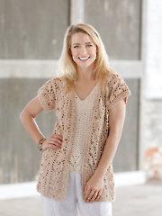 ANNIE'S SIGNATURE DESIGNS: Amalfi Crochet Kimono & Top Pattern
