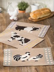 ANNIE'S SIGNATURE DESIGNS: Farmhouse Place Mats Crochet Pattern