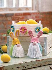 ANNIE'S SIGNATURE DESIGNS: Spring Basket & Bunny Gnomes Crochet Pattern