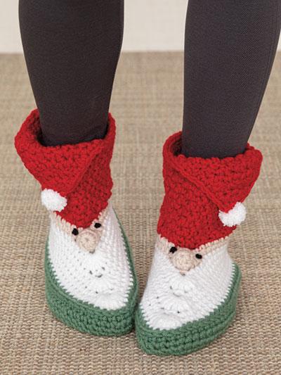 ANNIE'S SIGNATURE DESIGNS: Gnome Slipper Boots to Crochet Pattern