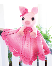 Pinky the Piggy Security Blanket Crochet Pattern