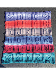 Alphabet Baby Bobble Afghan Crochet Pattern