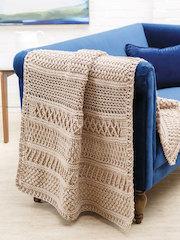 ANNIE'S SIGNATURE DESIGNS: Irelander Gansey Crochet Afghan Pattern
