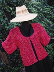 The Lightning Lace Jacket Knit Pattern