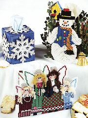 Happy Holiday Tissue Covers Plastic Canvas Pattern
