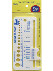 Boye® Count Ten Plus� Knitting Gauge