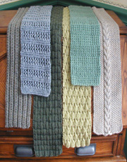 6 Simple Scarves Knit Pattern