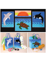 Sea Life Collection in Plastic Canvas Pattern Pack