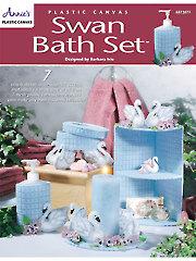 Swan Bath Set Plastic Canvas Pattern