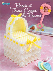 Baby Bassinet Tissue Box Cover & Photo Frame