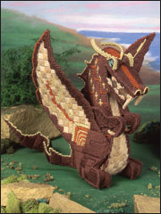 Dragon Sculpture Plastic Canvas Pattern