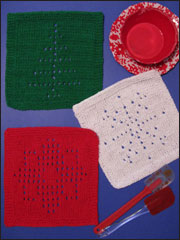 Winter Days Knit Dishcloths