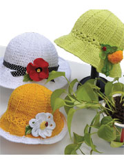 Garden Party Hat & Flower Pins