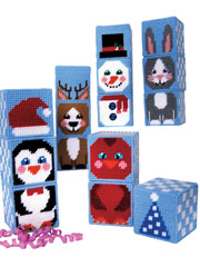 Winter Buddy Mix/Match Blocks Plastic Canvas Pattern Pack