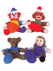 Kids Toys With Gift Card Pouches Crochet Pattern Pack
