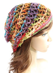 Gems Lacy Crochet Hat