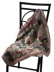 Mitered Square Blanket Knit Pattern