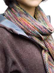 Koigu Linen Stitch Scarf Knit Pattern