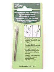 Darning Needles with Latch Hook Eye