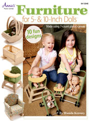 Plastic Canvas Furniture for 5- & 10-Inch Dolls