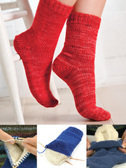 Double Take Two at a Time Socks Knit Pattern